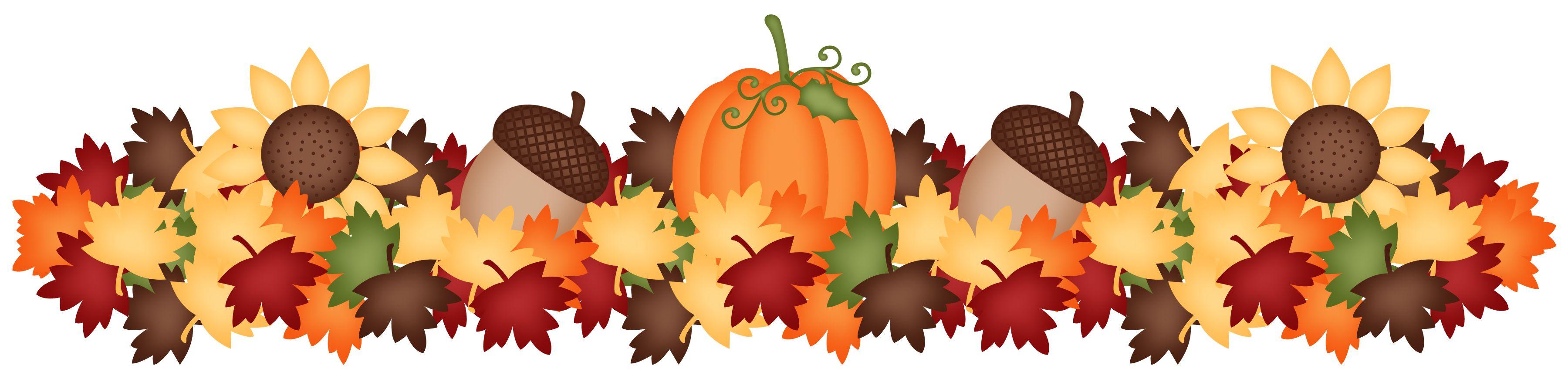 PUMPKIN AND ACORNS | Fall clip art, Fall borders, Fall crafts