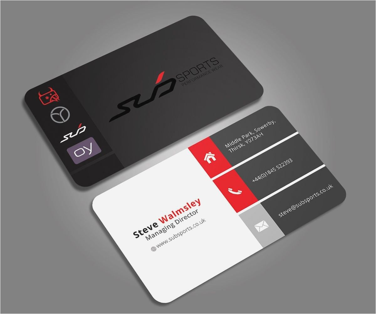Best Business Cards 2020.Best Sports Business Cards New Business Cards Layout