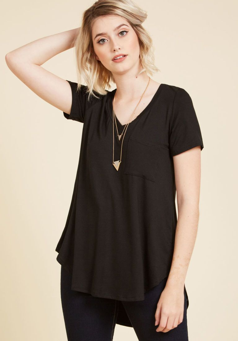 ba044d0fc06 Yours Chill the End Top in Noir in S - Long Regular Tunic - Plus Sizes  Available