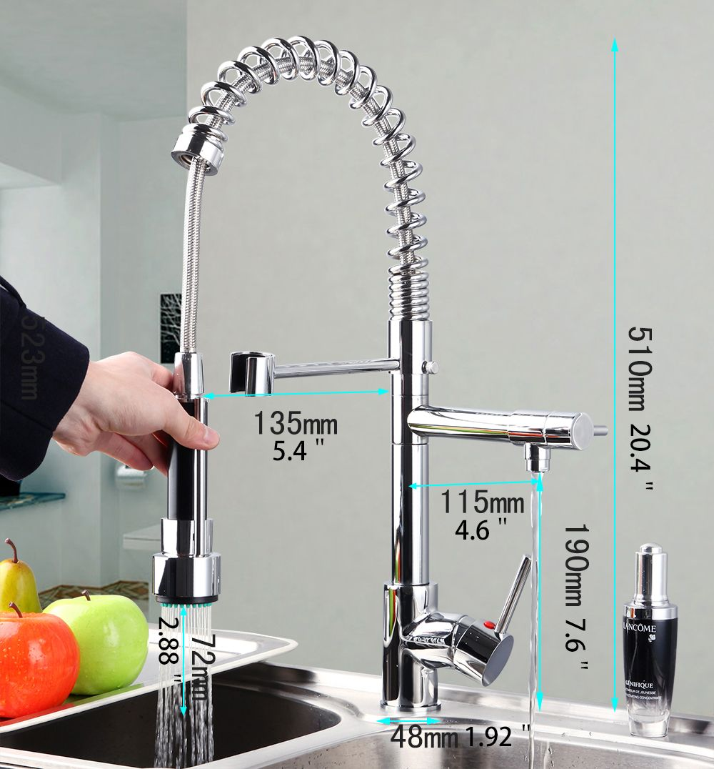 OUBONI Big Discount Luxury Kitchen Faucet Solid Brass Sink Basin ...