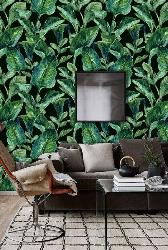 Self Adhesive Wall Paper Wall Mural Removable Wallpaper Etsy Green Wallpaper Bedroom Dark Green Wallpaper Green Wallpaper