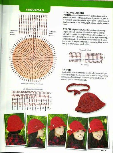 d987d2ac4efe5 La Magia del Crochet  REVISTA DE GORROS A CROCHET PARA MUJER ...