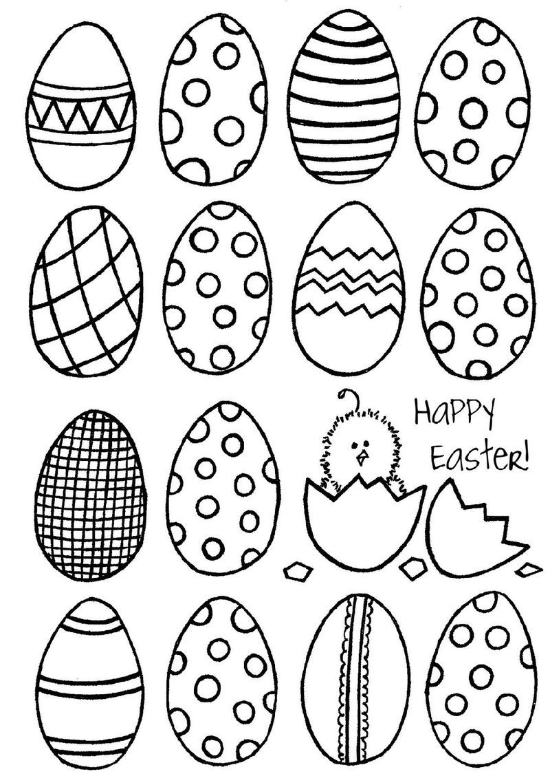Blank Easter Egg Template Coloring in 2020 | Easter ...