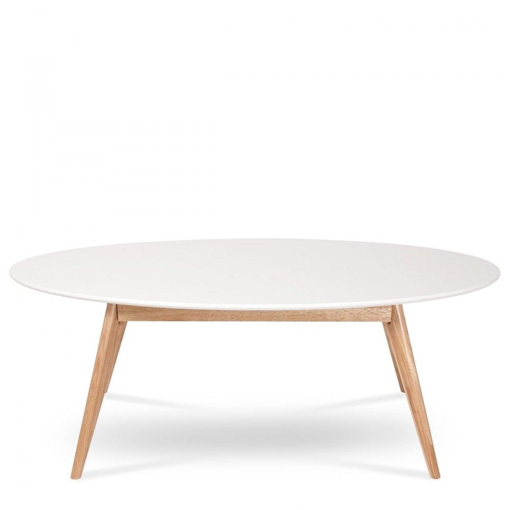 Table Basse Scandinave Ovale Skoll Tables Basses Ovales  # Table Basse Scandinave Laque