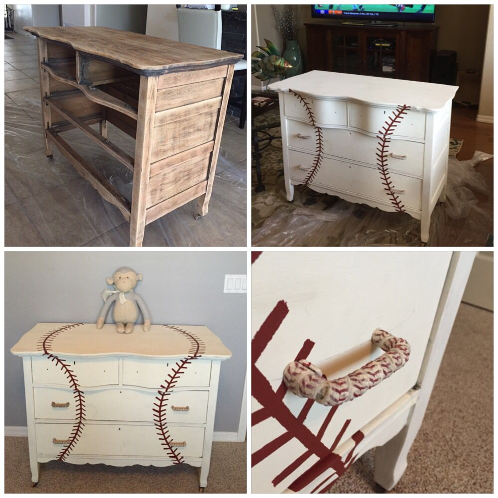 Baseball nursery baseball dresser - Baseball+dugout+bedroom+designs We Thought These Rope Lamps Were