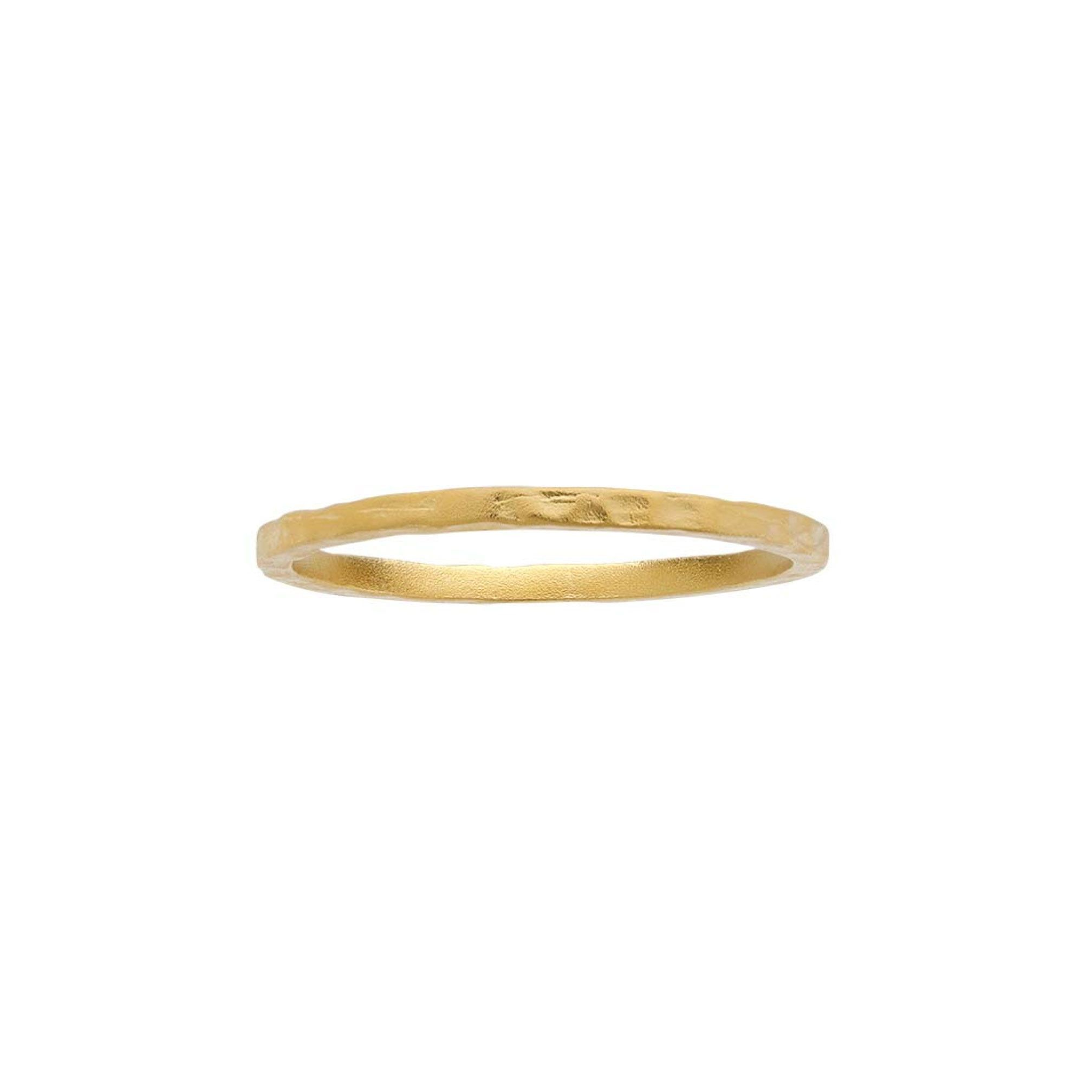 Satin hammered finish stacking ring satin products and stacking rings