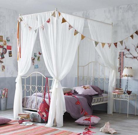 cama con dosel habitación niña | Niños recamaras | Pinterest | Camas ...