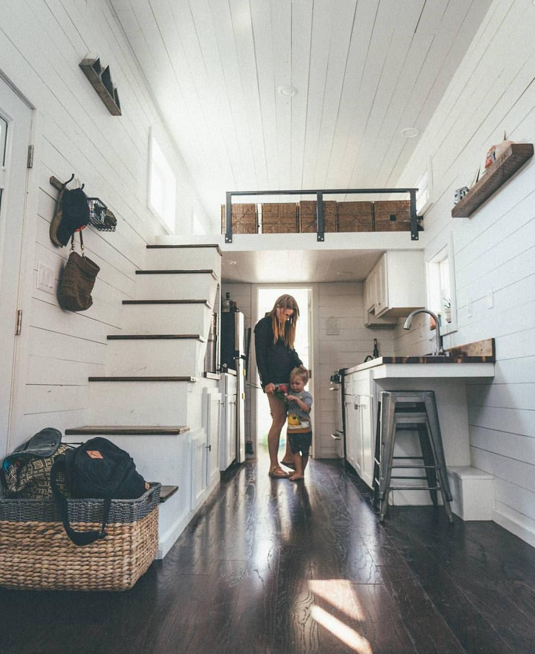 A Family Living In A Tiny Home Small House Big Love Tinyhousefamily Tiny House Australia Tiny House Family Tiny House Big Living