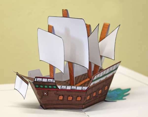 Make Your Own Pop Up Mary Rose The Mary Rose Paper Toys Pop Up Card Templates Paper Crafts