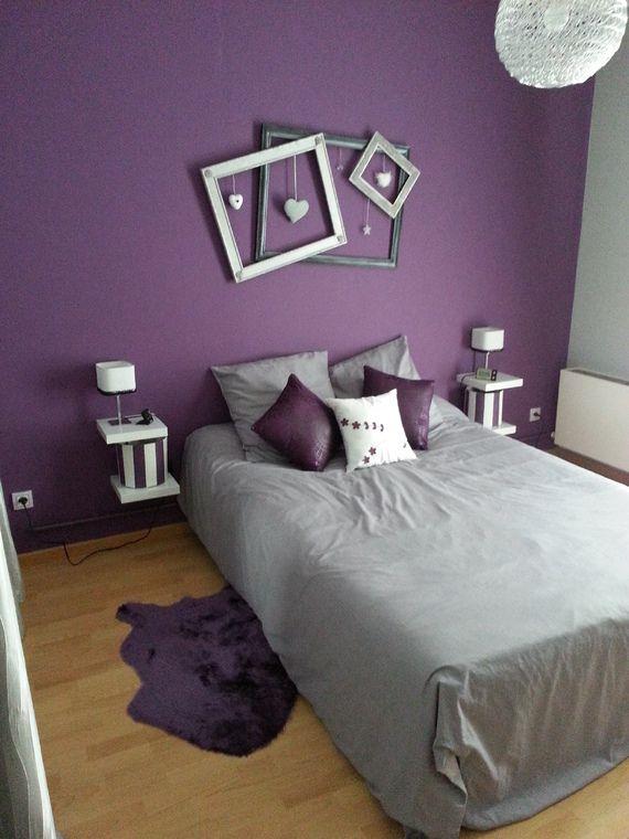 D coration violet parentale gris et violet karinedeco photos club mon cahier deco - Chambre parentale grise ...