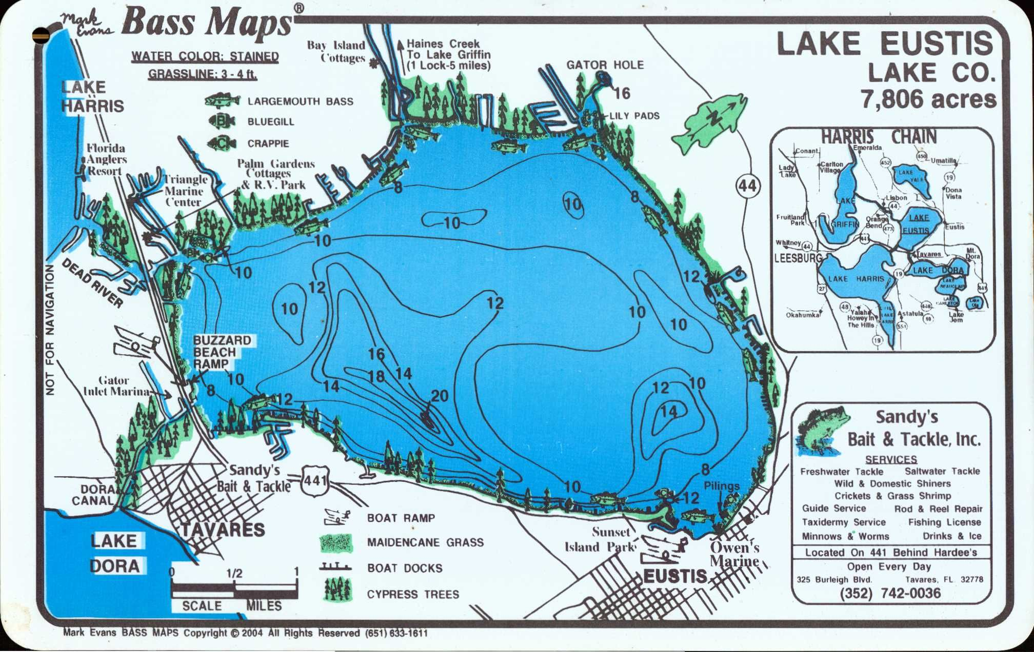 Lake Eustis In Eustis City En La Florida Centro Florida - Map of florida lakes