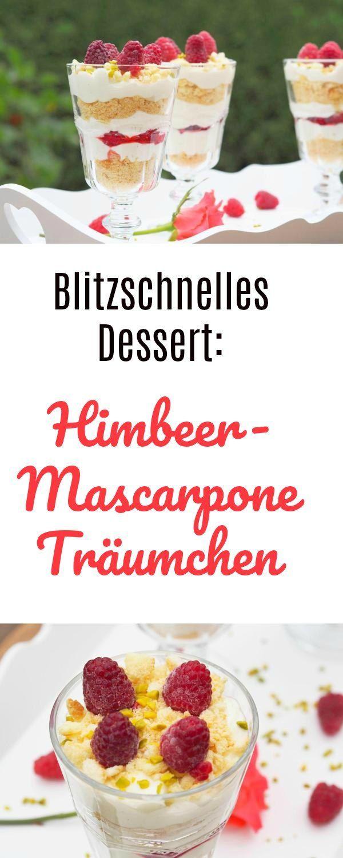 Blitzschnelles Himbeer-Mascarpone Träumchen für Klein & Groß - Food & Travel-Blog #dessertfacileetrapide