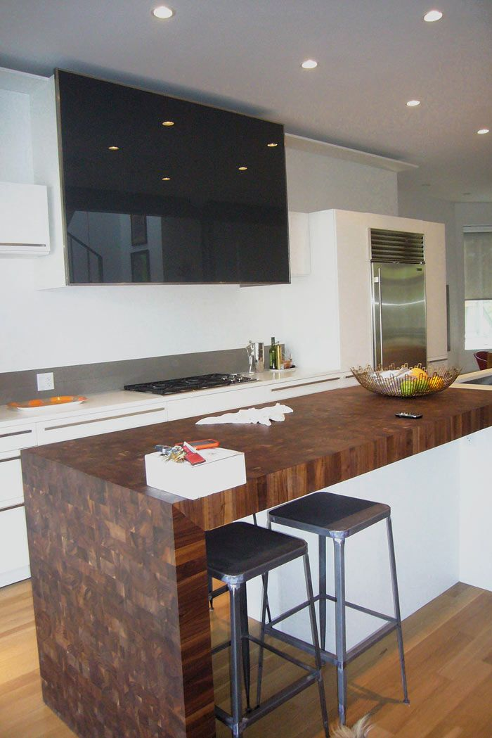 Custom Walnut Butcher Block Countertop In Chicago Illinois Wood