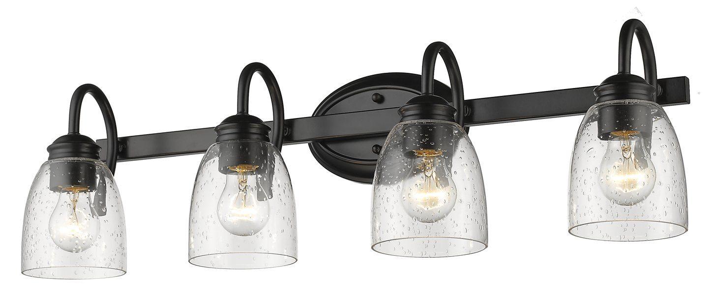Sheila 4 Light Dimmable Vanity Light In 2020 Vanity Lighting Bathroom Light Fixtures Farmhouse Bathroom Decor