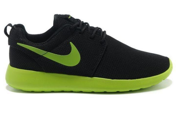 [FRBRZY]-Nike Roshe Run Mesh Pour Homme Chaussure Tennis Noir/Volt