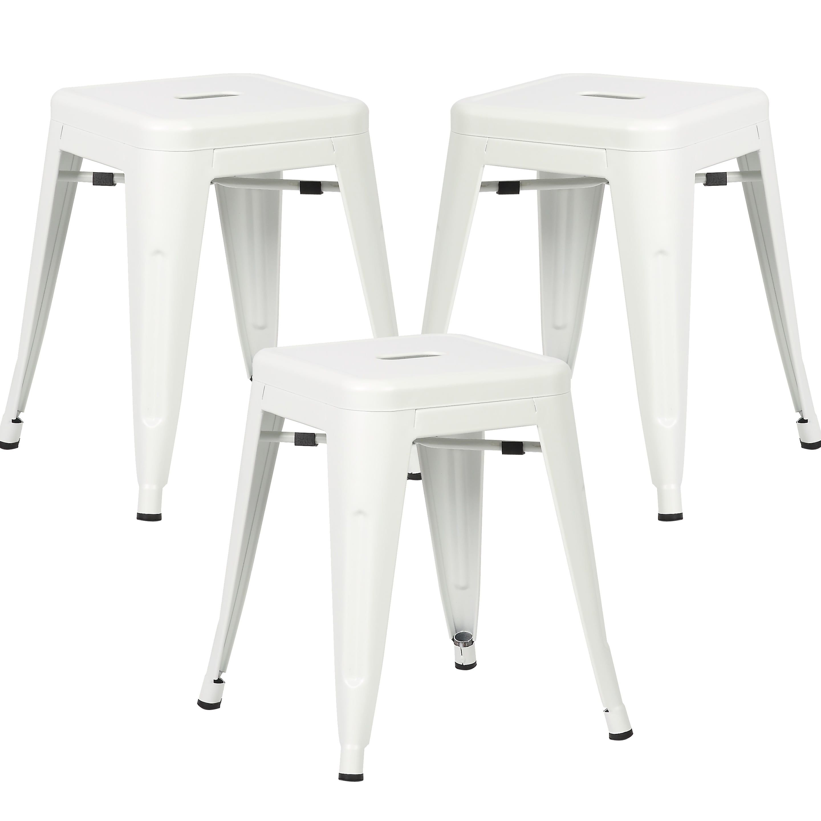 Set of 4 Poly and Bark Trattoria 18-inch Table Stool Matte Finish