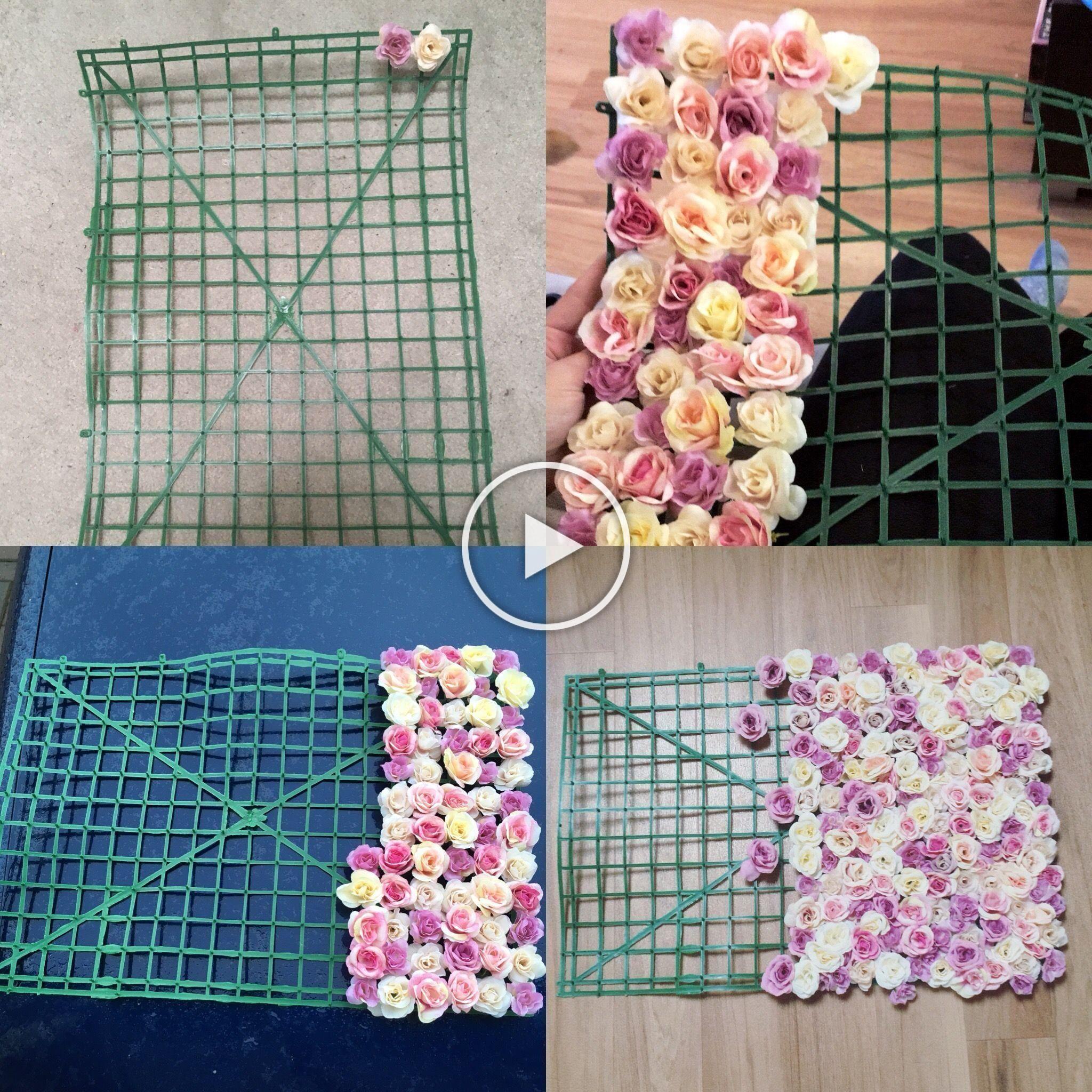Flower Wall DIY with vintage fake flowers#diy #fake #flower #flowers #vintage #w...#diy #fake #flower #flowers #flowersdiy #vintage #wall