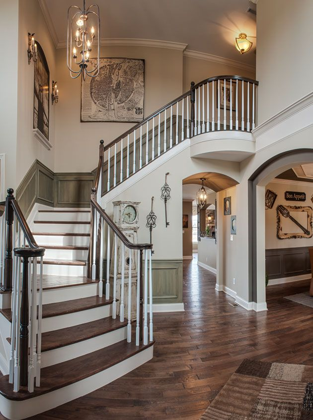Model nottoway fischer homes builder another great for House plans with stairs in foyer
