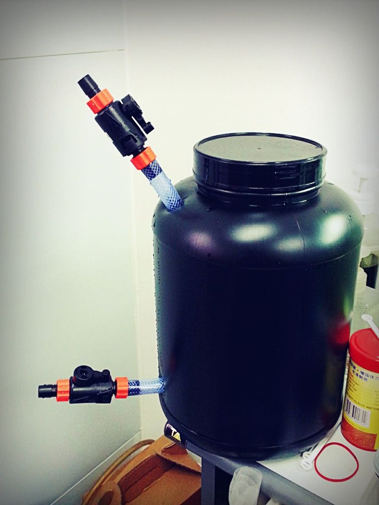 How to build a canister filter for under sgd 30 for Filter for fish tank