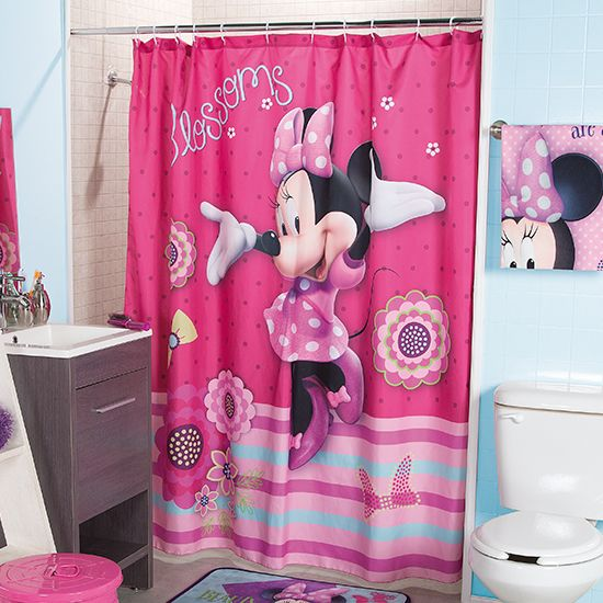 Cortina para ba o minnie moda infantil cortina hogar for Decoracion cortinas