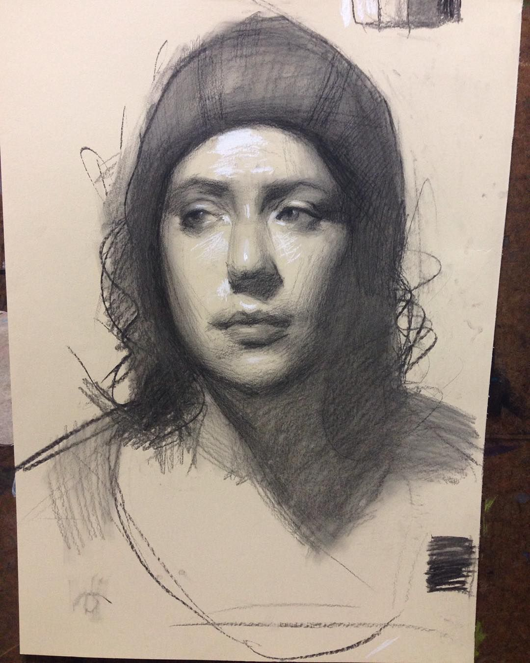 My Demo From Tonight S Portrait Drawing Class Portland Pdx