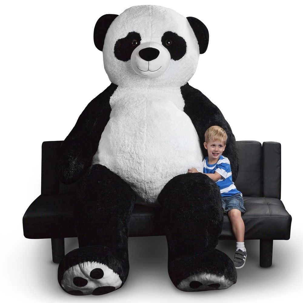 world plush toys inch giant panda bear stuffed animal by world  - snuggle up with this enormous stuffed panda bear this colossal cuddler ismade from washable