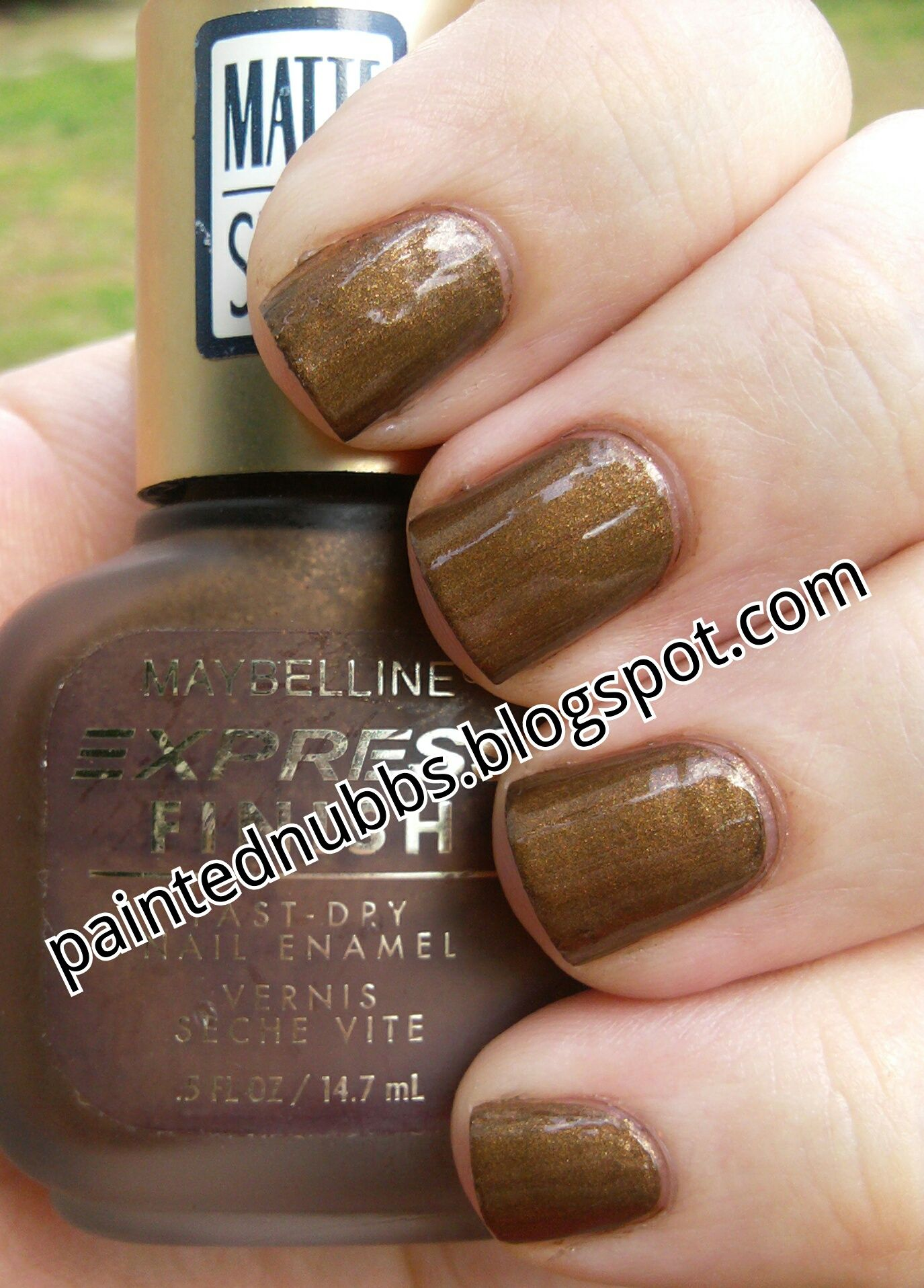 Painted Nubbs: Maybelline Matte Brownie w/topcoat   My Nails   Pinterest