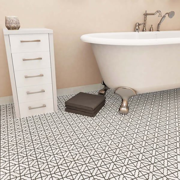 Somertile 11 75x11 75 Inch Castle White Porcelain Mosaic Floor And Wall Tile 10 Tiles 9 79 Sqft Porcelain Mosaic Tile Porcelain Mosaic Mosaic Flooring