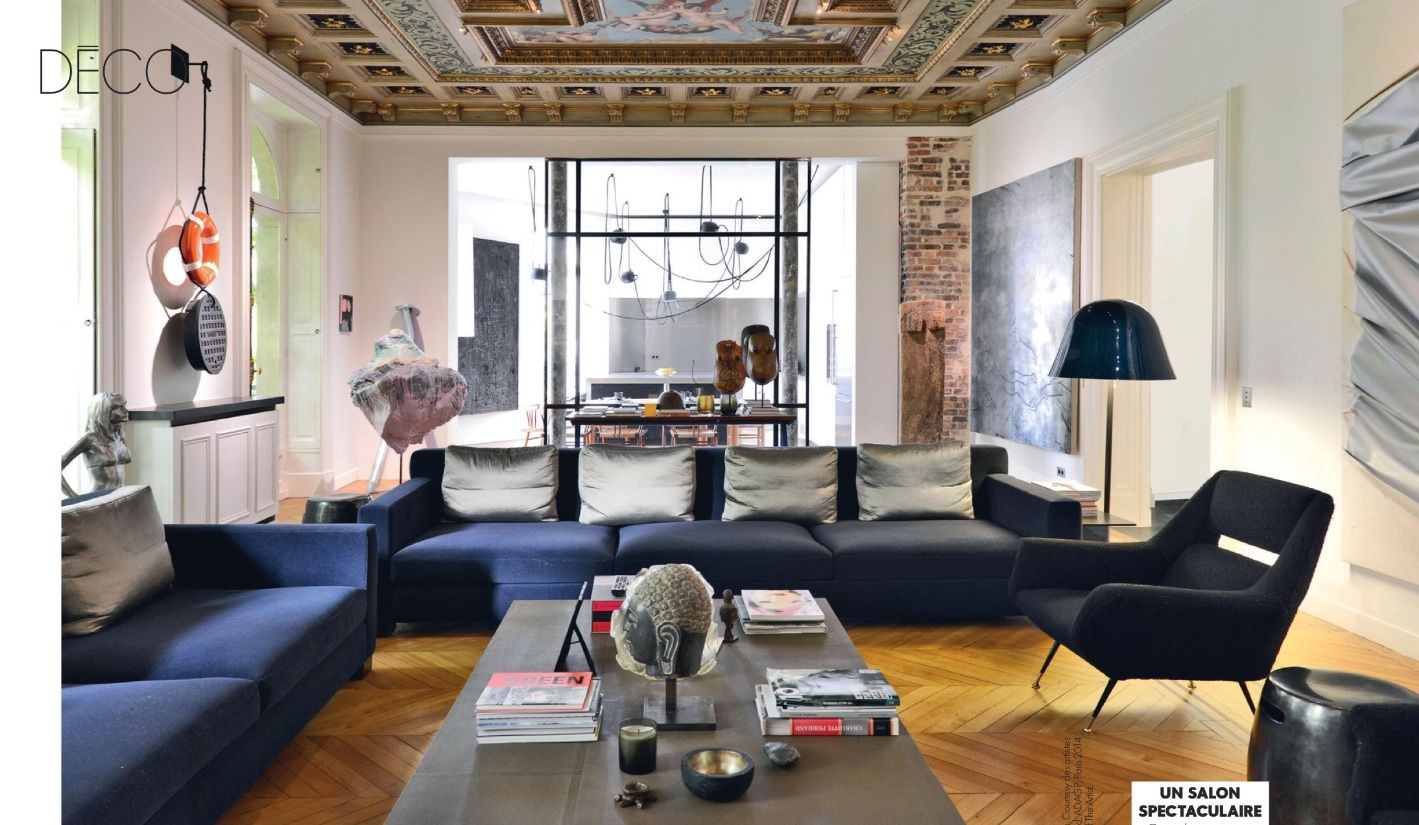 Le Blog Mademoiselle Arty Private Home Of Zadig & Voltaire's Extraordinary Living Room Designes Creative Decorating Inspiration
