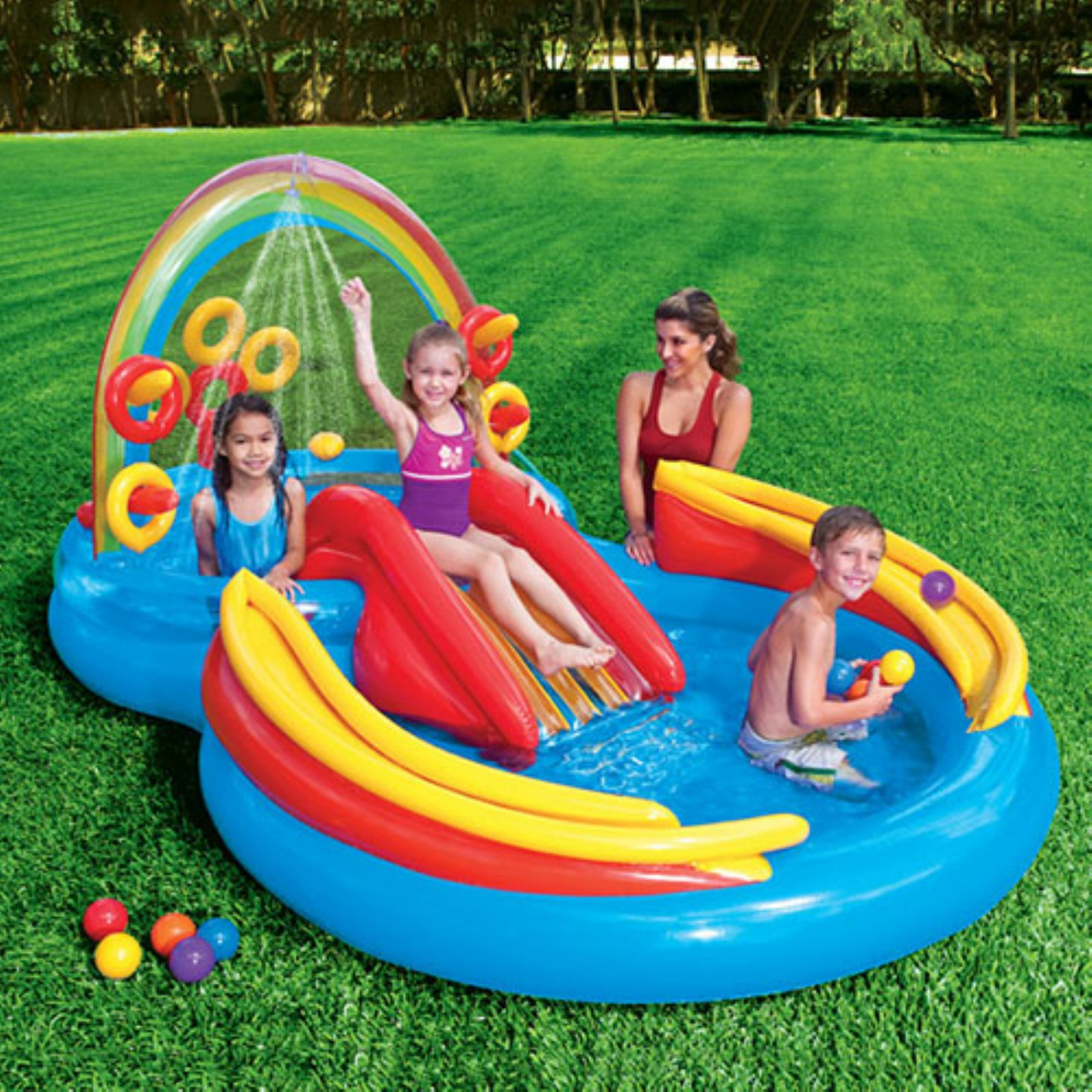 Klein Intex Zwembad Intex Rainbow Ring Play Center Products In 2019 Intex Swimming