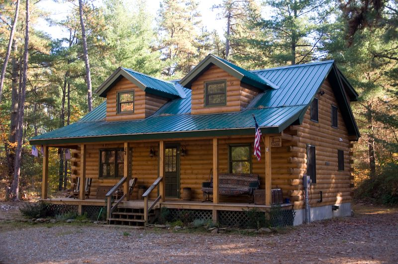 Unfinished Homesteader Log Cabin DIY Cabin Kits For Sale No