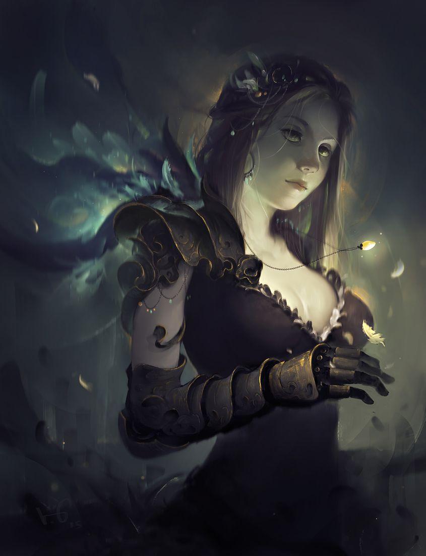 Raven By Vuong Le Fantasy 2d Cgsociety Fantasy