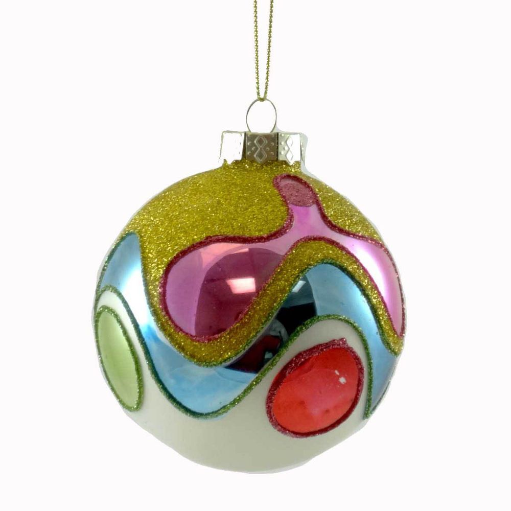 Holiday Ornament Psychedelic Wave Ball Ornament Tc5537 Christmas Glass Ball Ornaments Holiday Ornaments Holiday