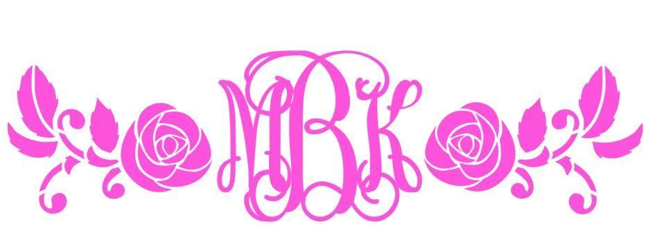 Baby Room Wall Decor M2M English Rose Removeable Decal Monogram Personalized
