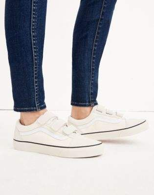 2ade04d7ff Madewell Vans Unisex Old Skool Velcro Sneakers in Marshmallow Canvas ...