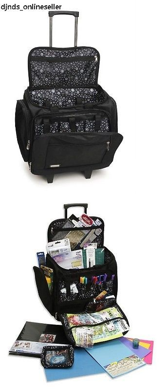 Scrapbooking Totes 146401 New Rolling Scrapbook Organizer Cart Bag