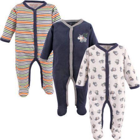 Luvable Friends Newborn Baby Boys Sleep N Play 3-Pack - Dog, Newborn Boy's, Size: 6 - 9 Months, Blue