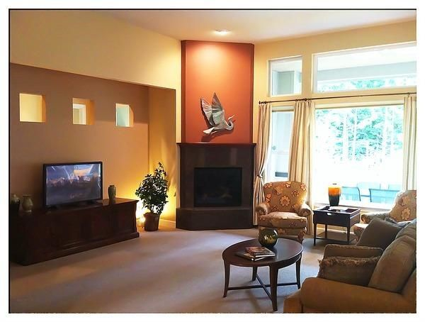 High Quality Brown Middling Autumn Color For Wall Construction Dark Brown Fireplace  Mantel A Wood Media Console With