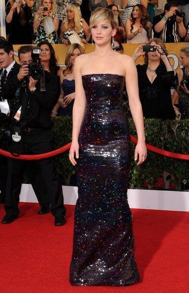 Jennifer Lawrence in Dior @2014 SAG Awards | Fashion, Cute ...