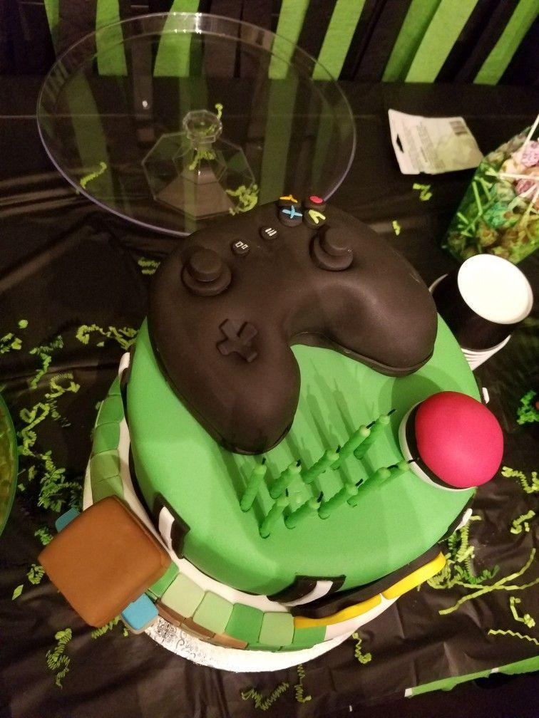 Gamer Cake Gaming Cake Party Games Cake Party