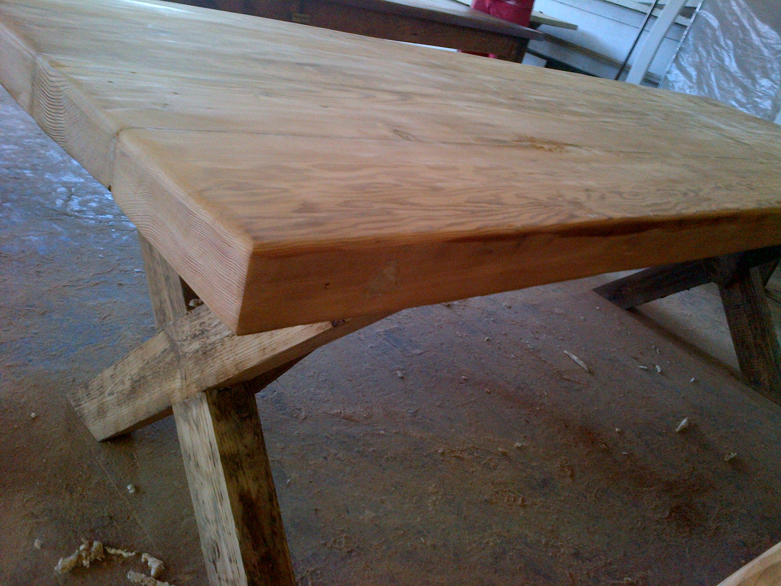 Rustic table seats 10 recycled and reclaimed wood with for Reclaimed wood oregon