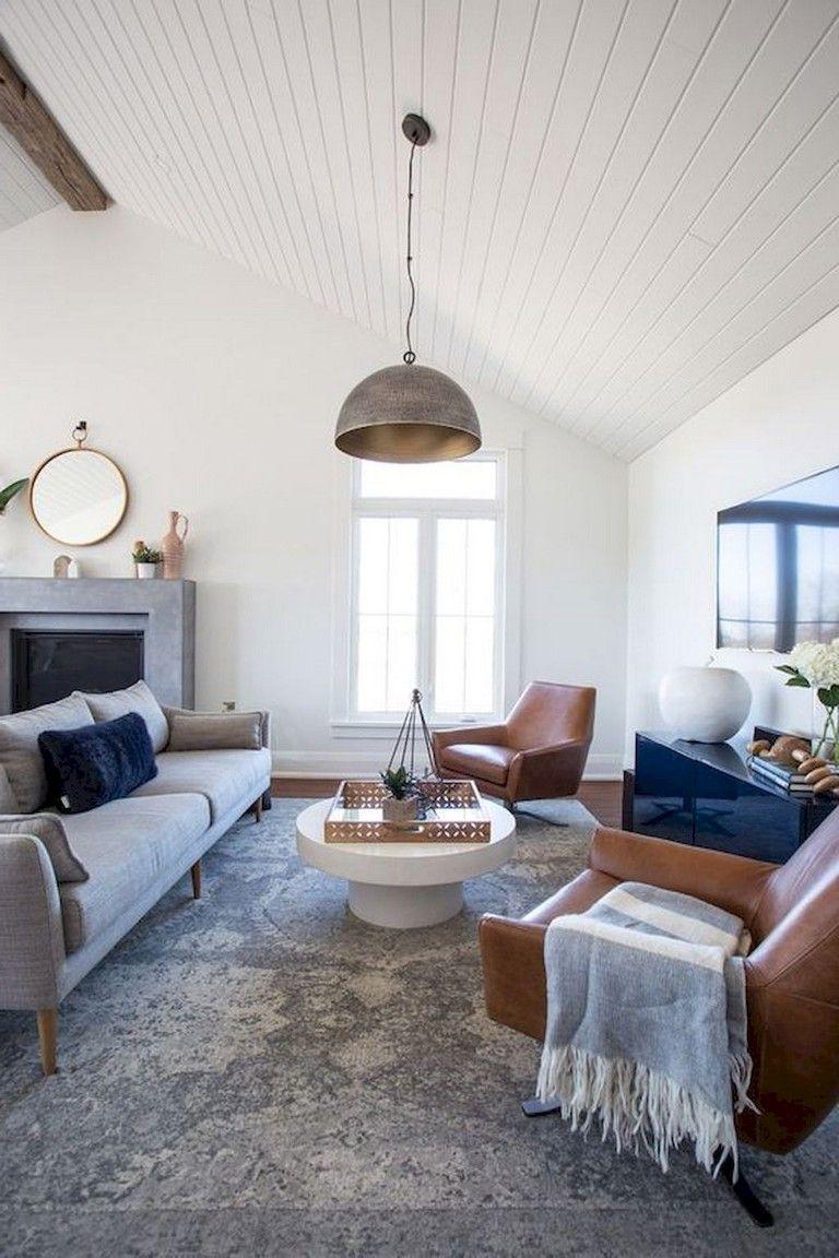 54 Cozy Modern Farmhouse Living Room First Apartment Ideas Contemporary Decor Living Room Farmhouse Living Room Furniture Farm House Living Room