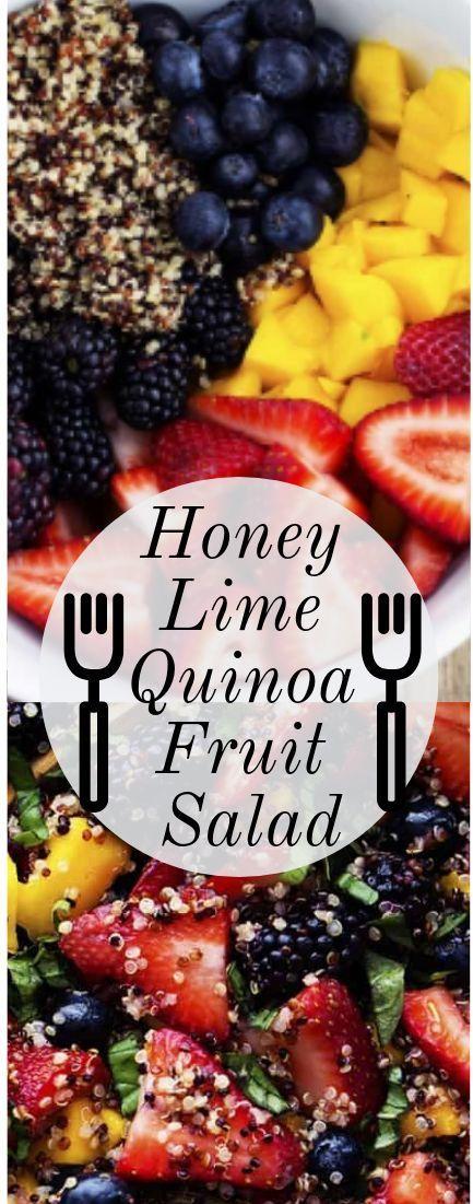 HONEY LIME QUINOA FRUCHTSALAT - Vegetarian and Vegan Recipes - LIME QUINOA FRUCHTSALAT  - Vegetarian and Vegan Recipes -