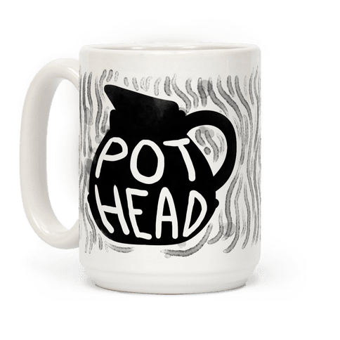 Pot Head (Coffee) Coffee Mugs LookHUMAN Pot head