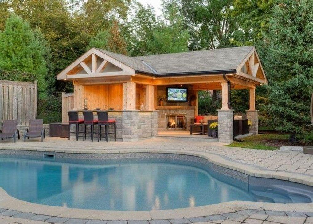30 Creative Small Swimming Pool For Your Small Backyard Pool House Designs Backyard Pavilion Pool Houses