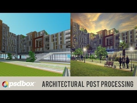 Architectural Post Processing in Photoshop - YouTube