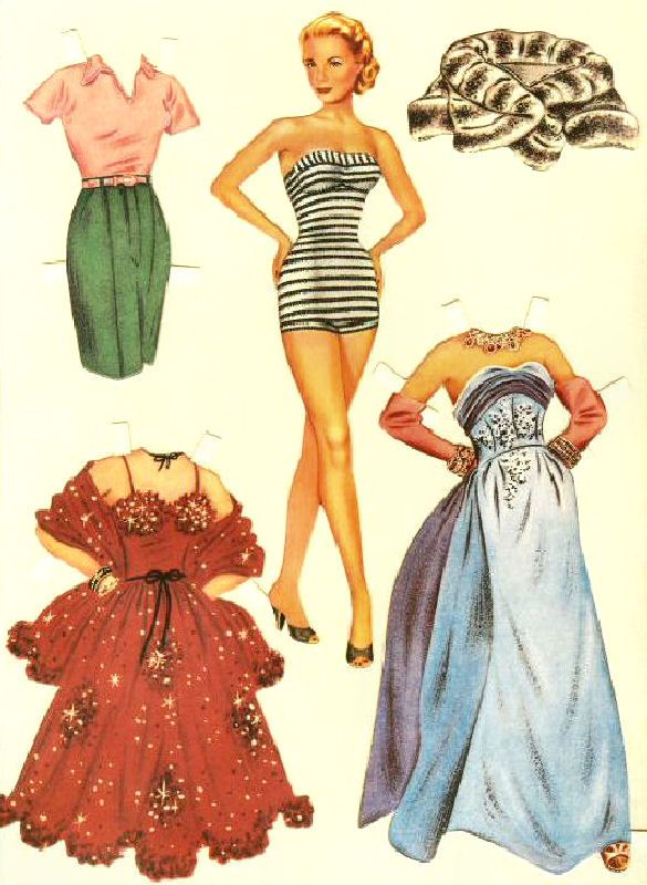 Grace Kelly Paper Dolls❤Celebrities Paper dolls, Paper dolls