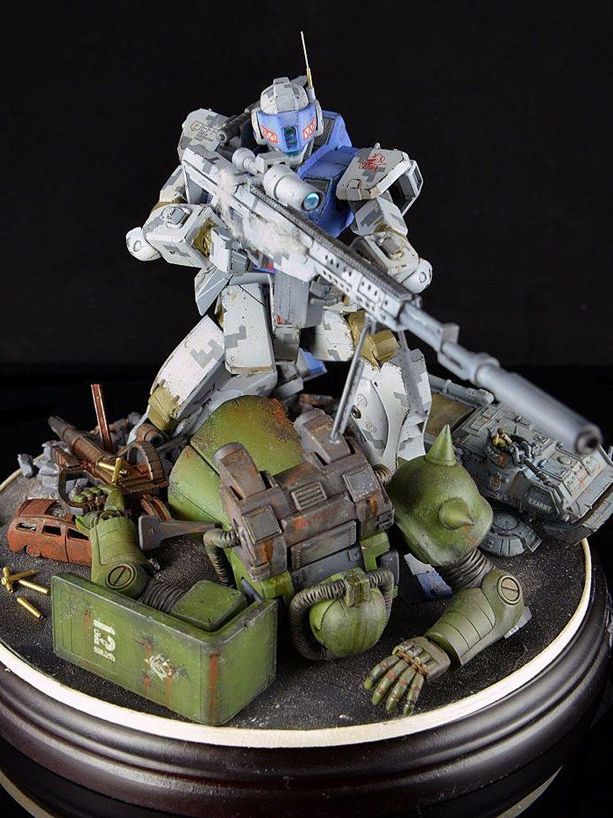 GUNDAM GUY: HG 1/144 GM Sniper - Diorama Build