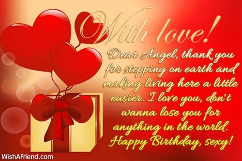 Dear Angel Thank You For Birthday Message Wife Wishes Girlfriend