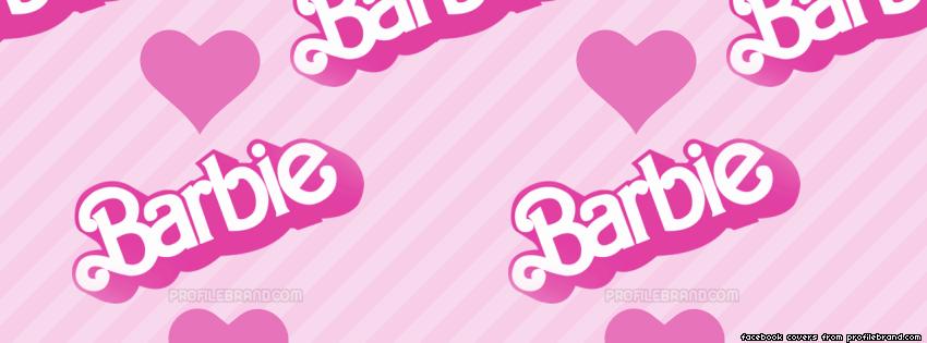Vintage Barbie logo Facebook cover